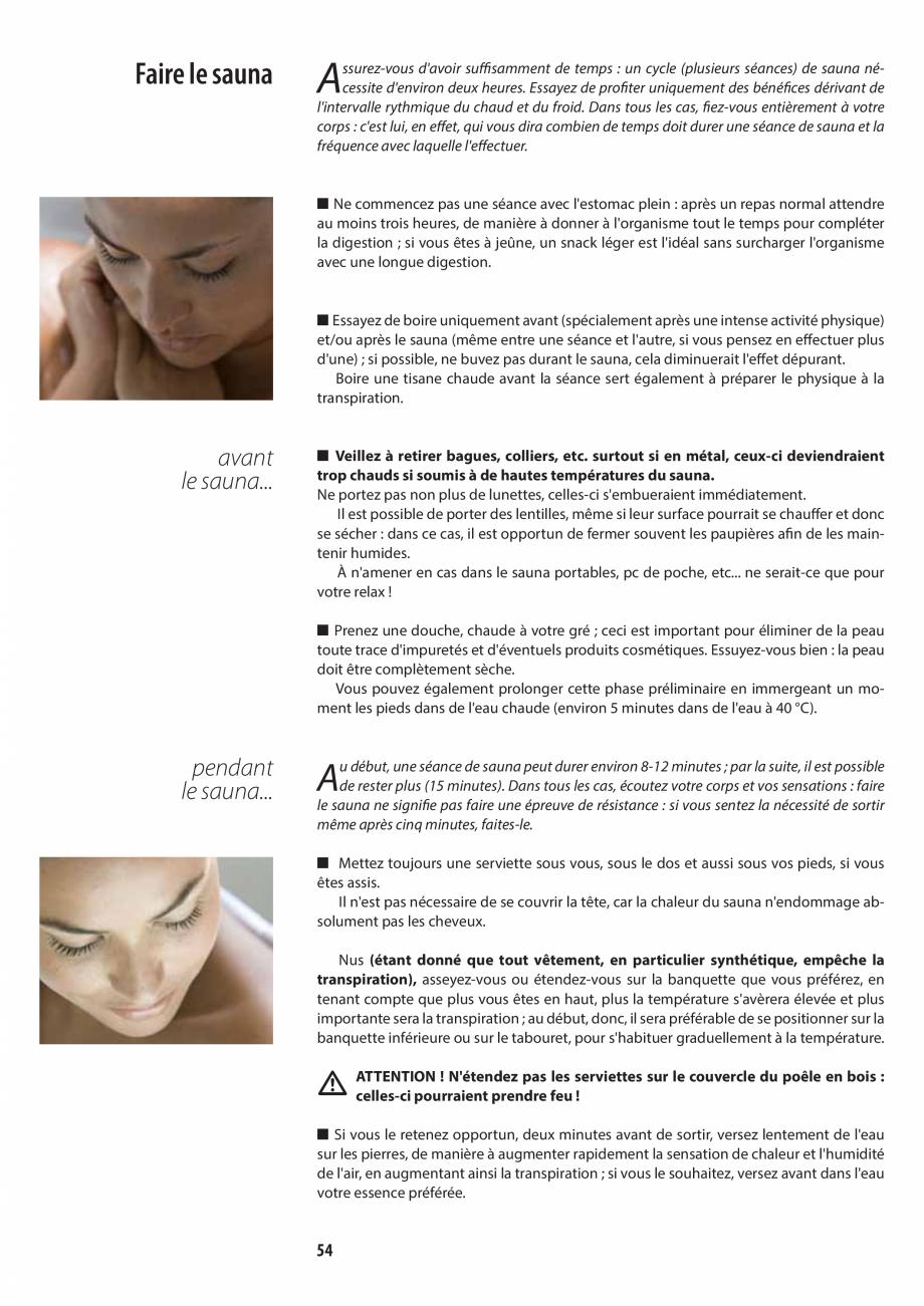 Pagina 54 - Manualul utilizatorului pentru sauna JACUZZI MOOD Instructiuni montaj, utilizare Engleza...