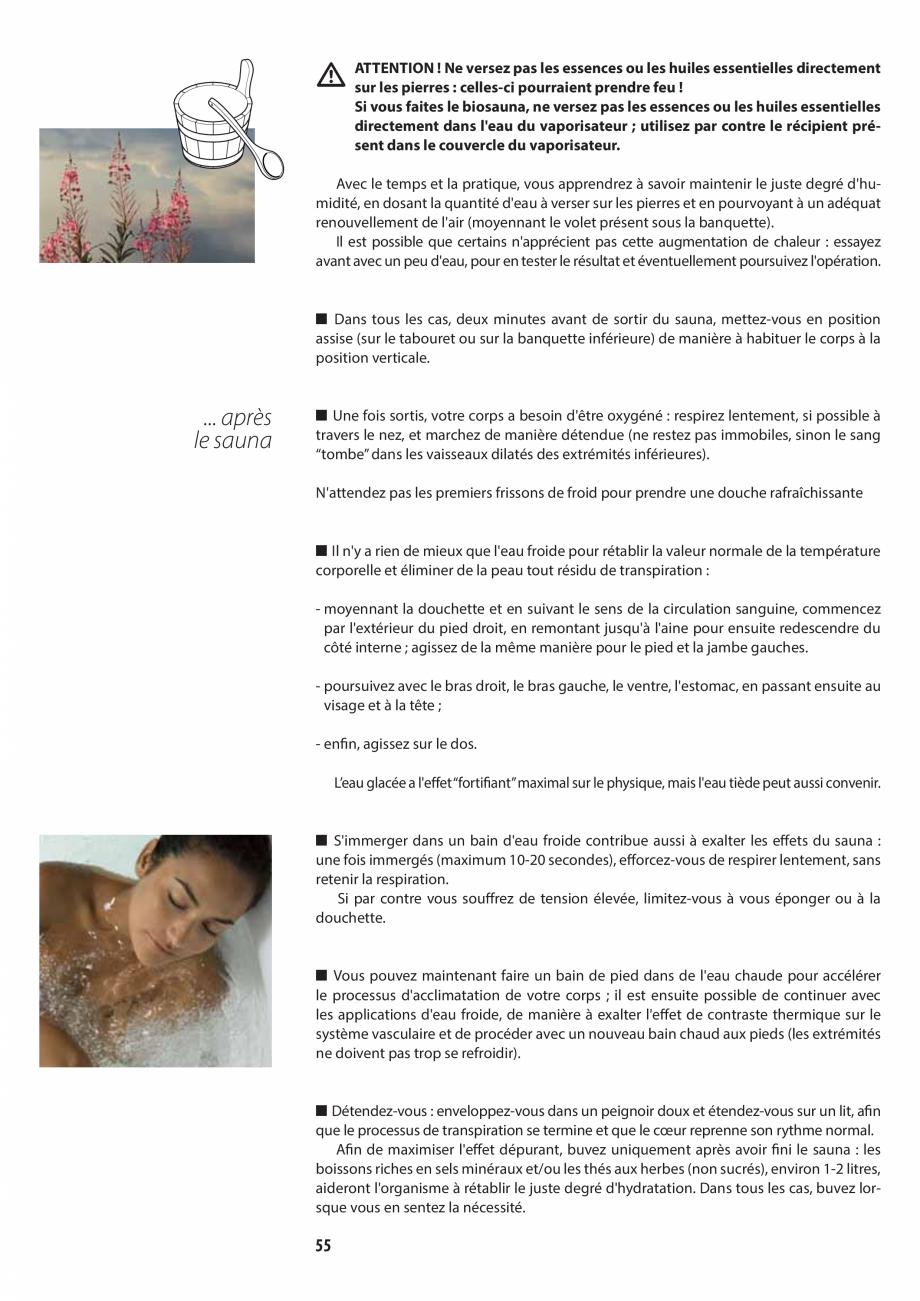Pagina 55 - Manualul utilizatorului pentru sauna JACUZZI MOOD Instructiuni montaj, utilizare Engleza...