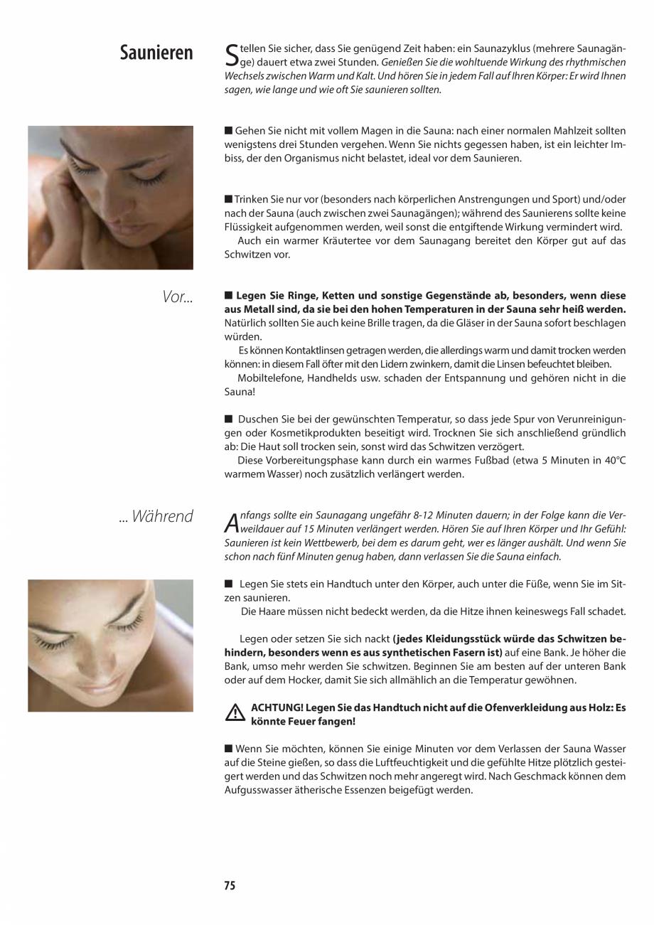 Pagina 75 - Manualul utilizatorului pentru sauna JACUZZI MOOD Instructiuni montaj, utilizare Engleza...
