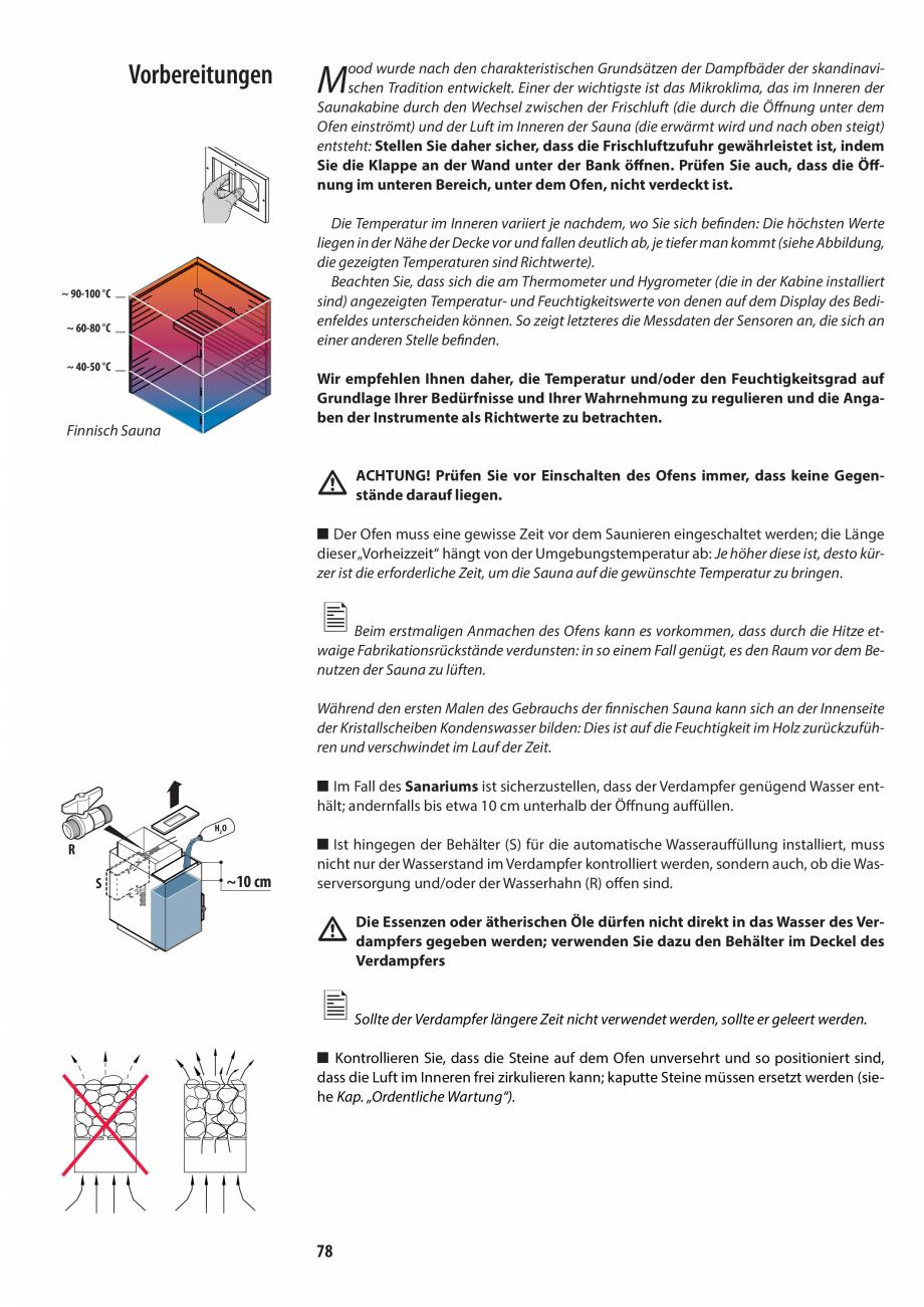 Pagina 78 - Manualul utilizatorului pentru sauna JACUZZI MOOD Instructiuni montaj, utilizare Engleza...