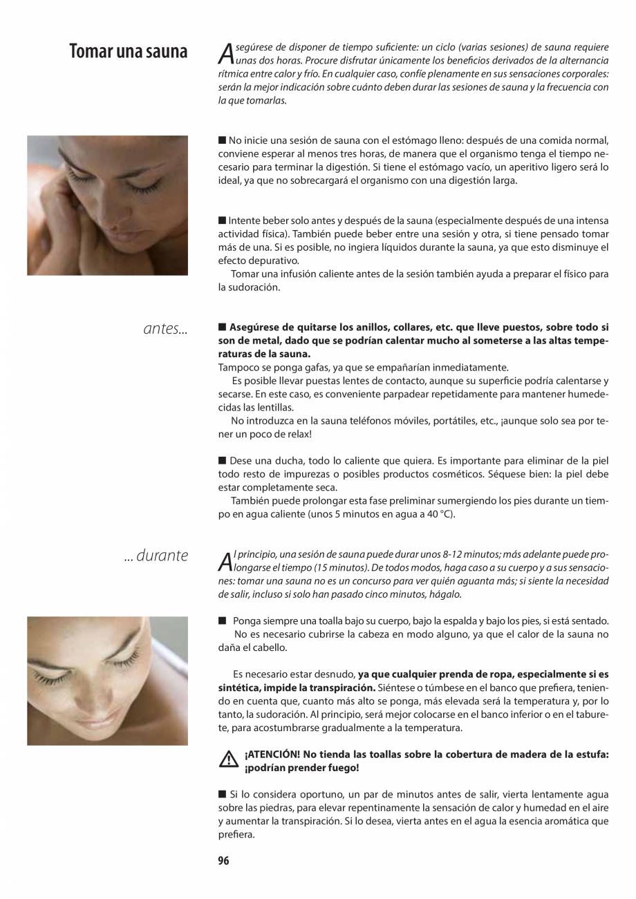Pagina 96 - Manualul utilizatorului pentru sauna JACUZZI MOOD Instructiuni montaj, utilizare Engleza...
