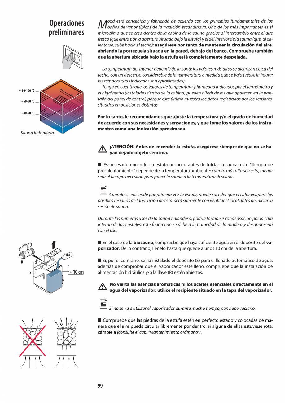 Pagina 99 - Manualul utilizatorului pentru sauna JACUZZI MOOD Instructiuni montaj, utilizare Engleza...