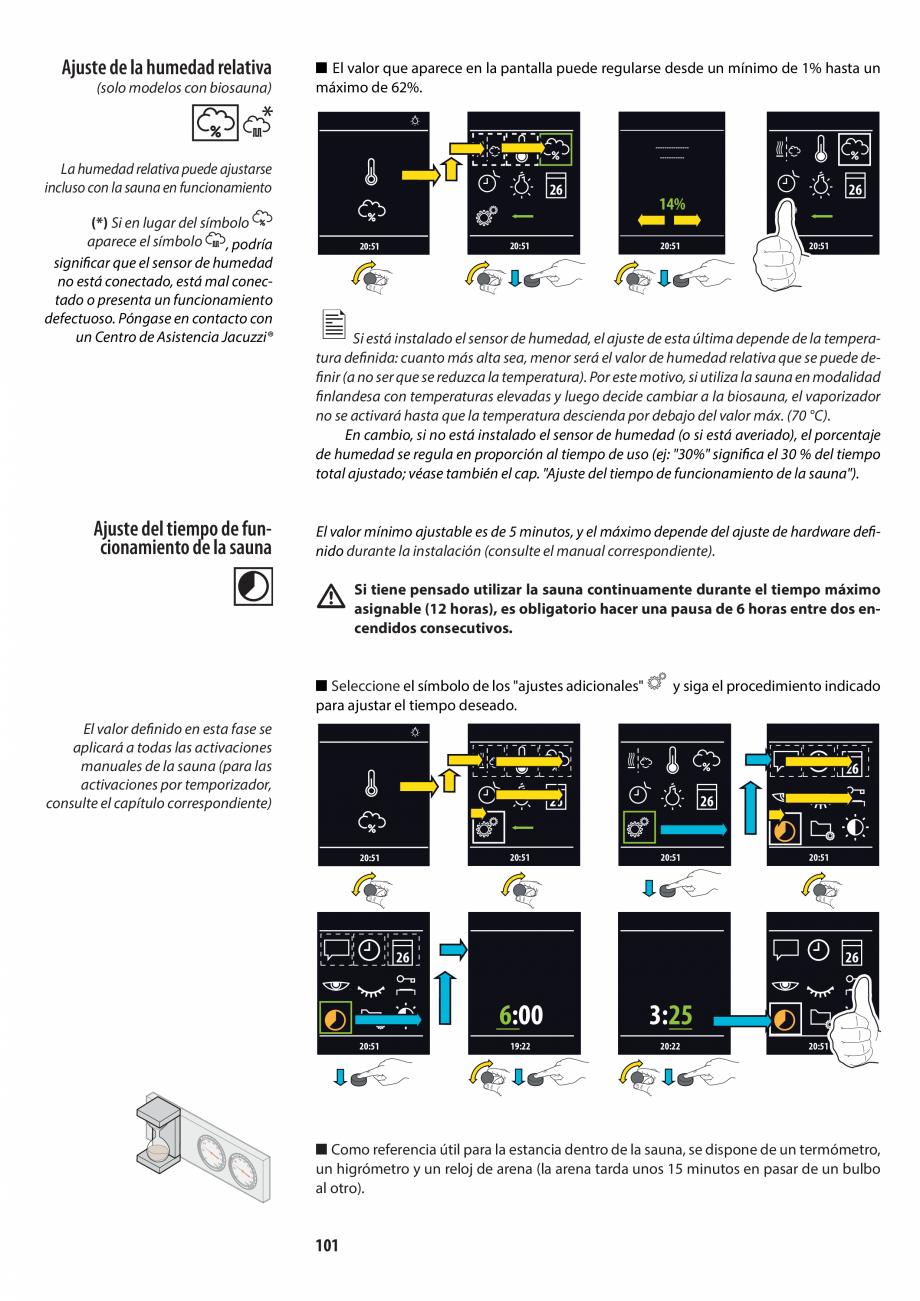 Pagina 101 - Manualul utilizatorului pentru sauna JACUZZI MOOD Instructiuni montaj, utilizare...