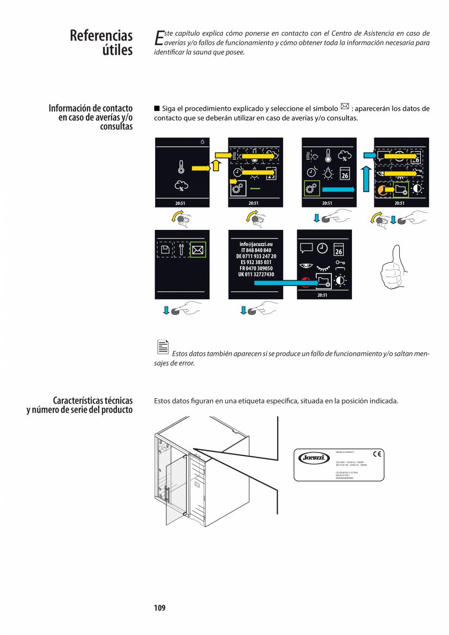 Pagina 109 - Manualul utilizatorului pentru sauna JACUZZI MOOD Instructiuni montaj, utilizare...