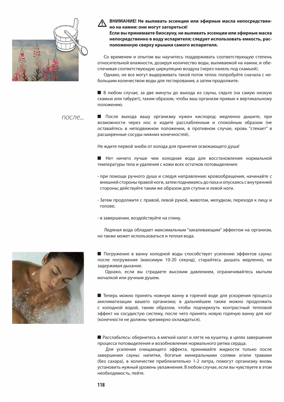 Pagina 118 - Manualul utilizatorului pentru sauna JACUZZI MOOD Instructiuni montaj, utilizare...