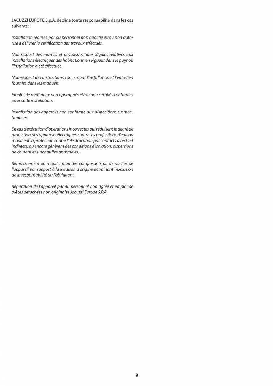 Pagina 9 - Manual de instalare pentru sauna JACUZZI MOOD Instructiuni montaj, utilizare Engleza,...