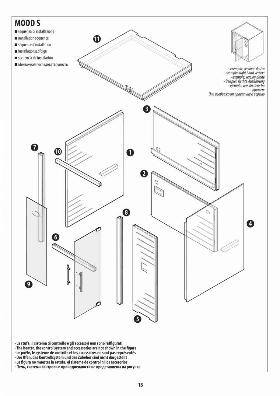Pagina 18 - Manual de instalare pentru sauna JACUZZI MOOD Instructiuni montaj, utilizare Engleza,...