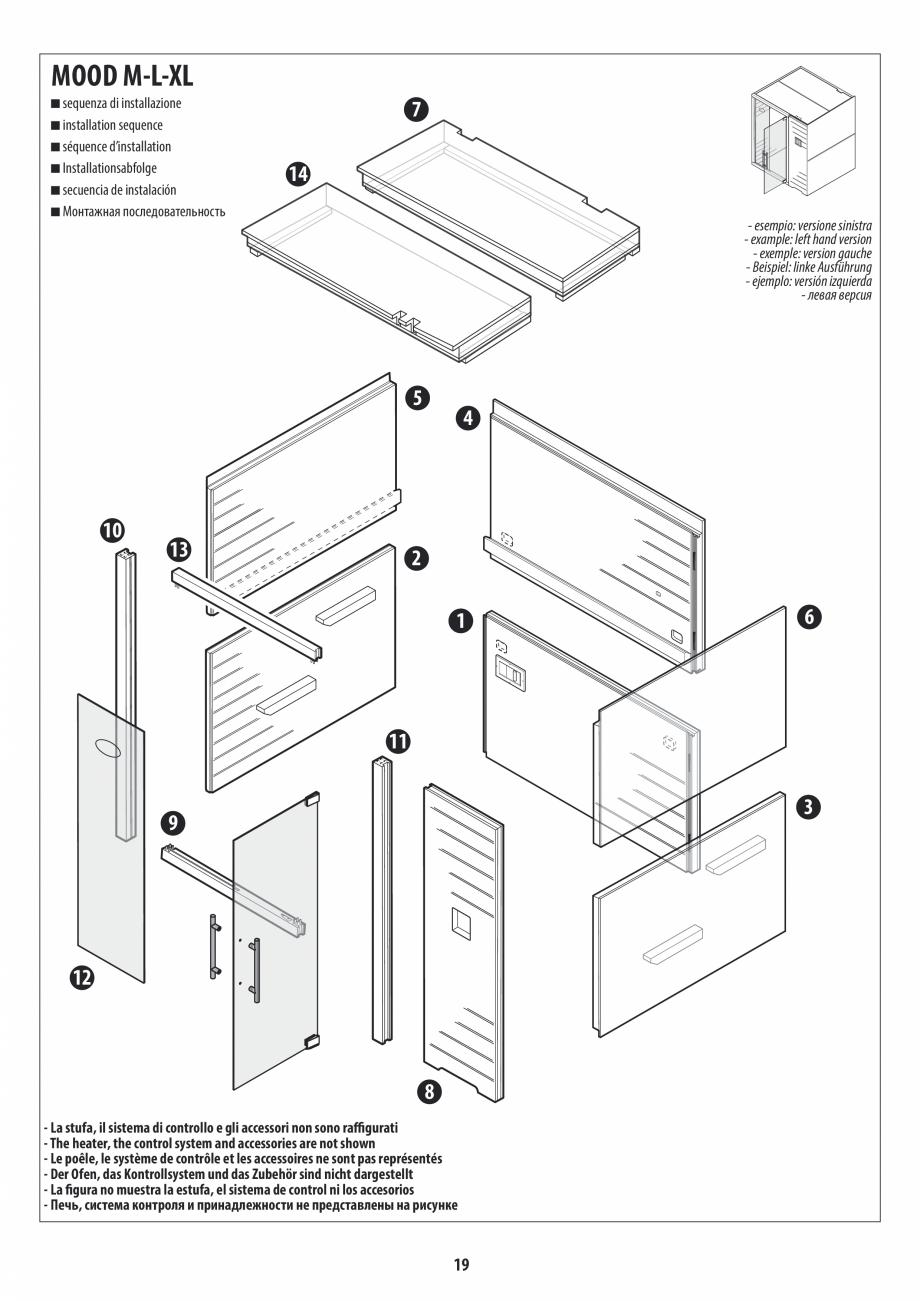 Pagina 19 - Manual de instalare pentru sauna JACUZZI MOOD Instructiuni montaj, utilizare Engleza,...