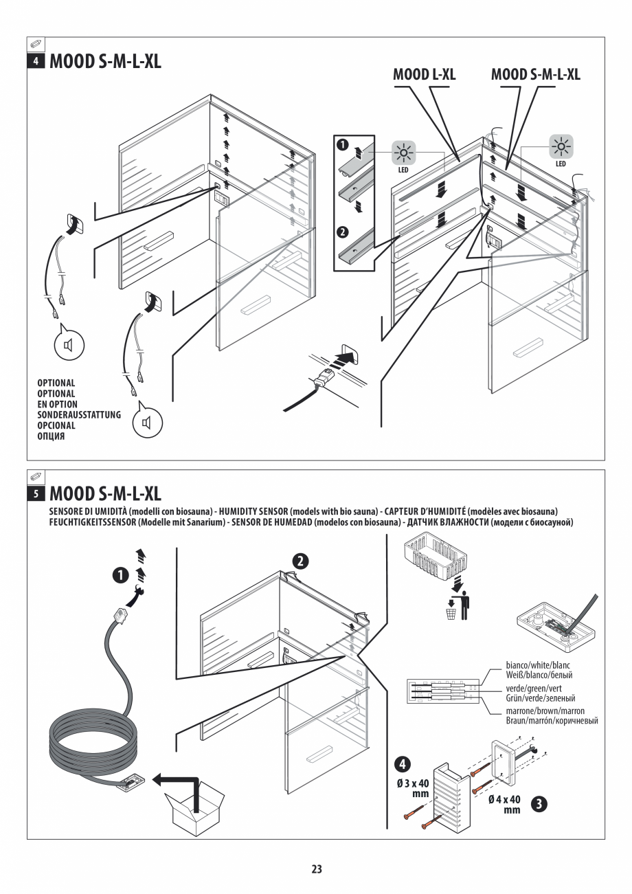 Pagina 23 - Manual de instalare pentru sauna JACUZZI MOOD Instructiuni montaj, utilizare Engleza,...