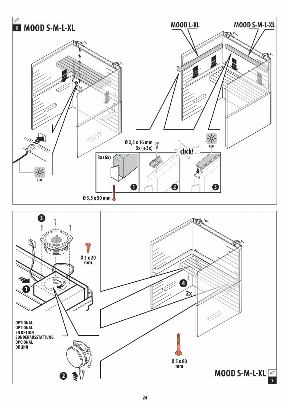 Pagina 24 - Manual de instalare pentru sauna JACUZZI MOOD Instructiuni montaj, utilizare Engleza,...