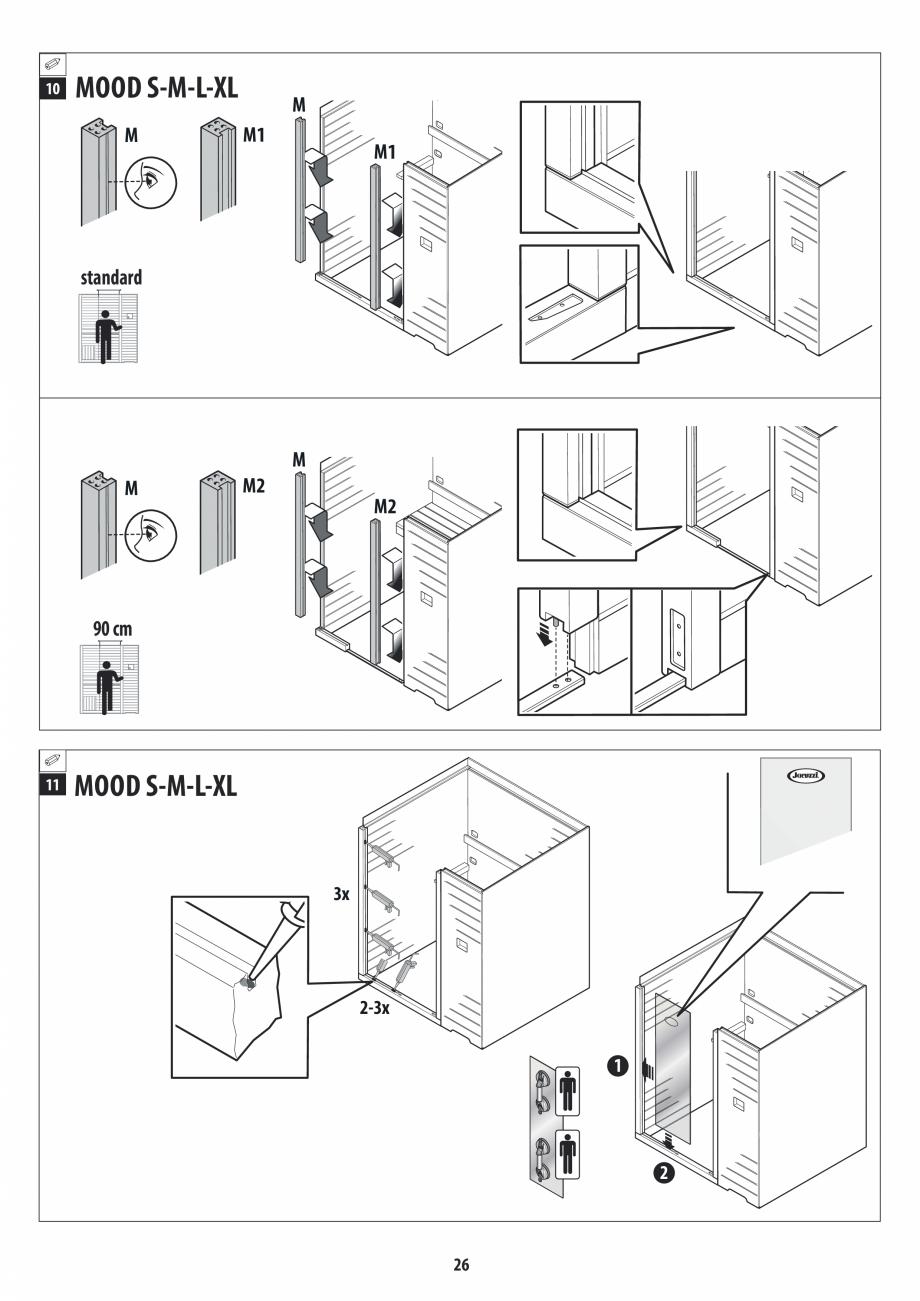 Pagina 26 - Manual de instalare pentru sauna JACUZZI MOOD Instructiuni montaj, utilizare Engleza,...