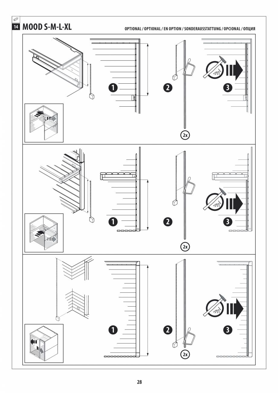 Pagina 28 - Manual de instalare pentru sauna JACUZZI MOOD Instructiuni montaj, utilizare Engleza,...