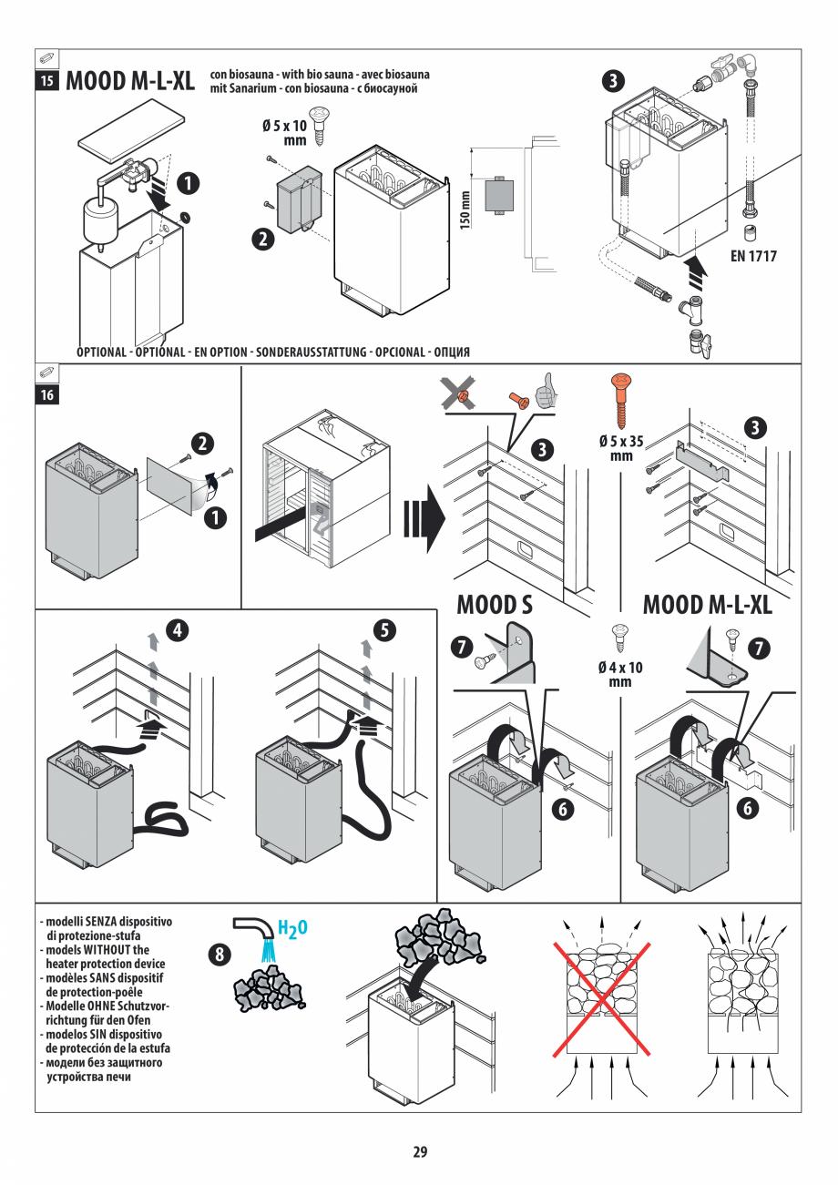 Pagina 29 - Manual de instalare pentru sauna JACUZZI MOOD Instructiuni montaj, utilizare Engleza,...