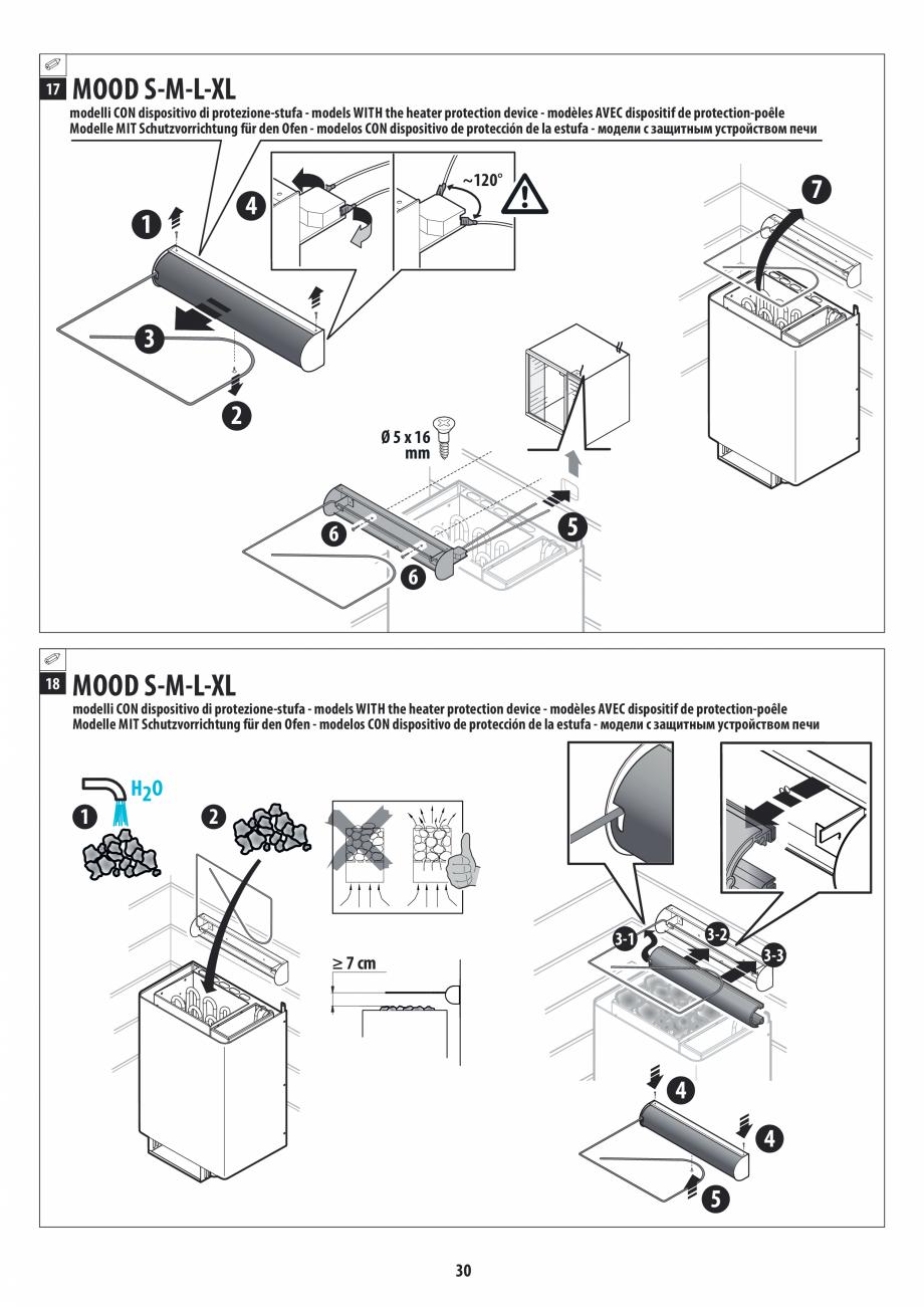Pagina 30 - Manual de instalare pentru sauna JACUZZI MOOD Instructiuni montaj, utilizare Engleza,...