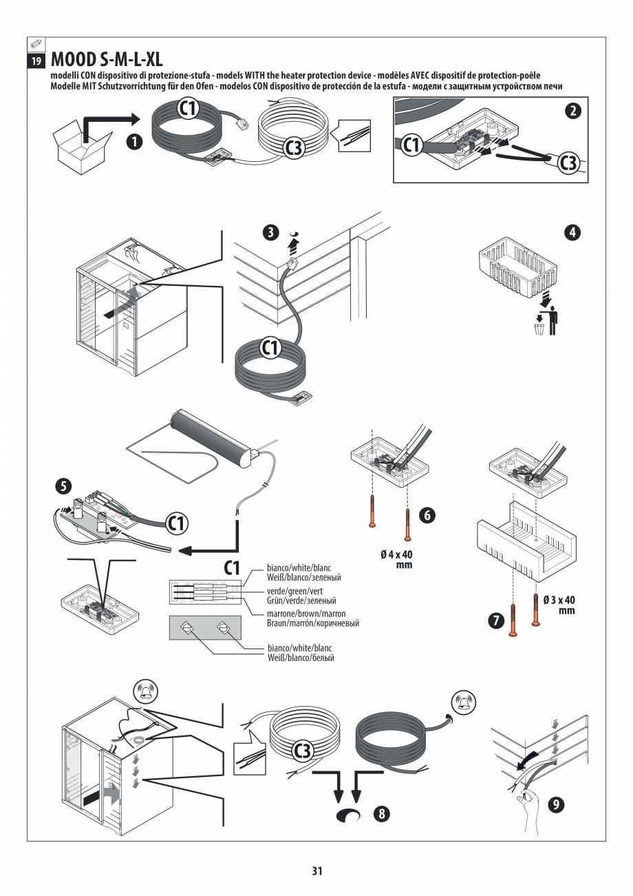 Pagina 31 - Manual de instalare pentru sauna JACUZZI MOOD Instructiuni montaj, utilizare Engleza,...