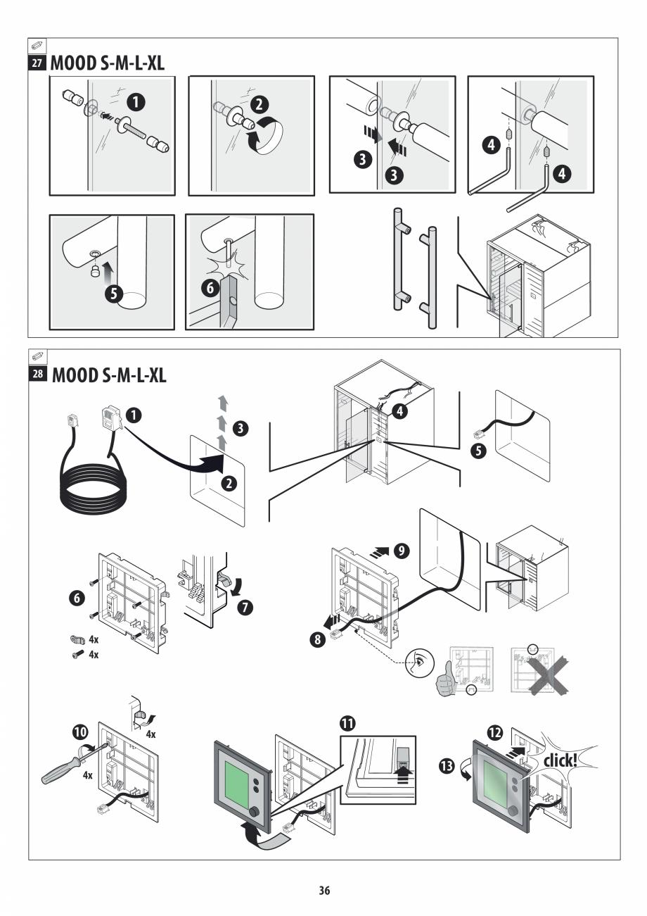 Pagina 36 - Manual de instalare pentru sauna JACUZZI MOOD Instructiuni montaj, utilizare Engleza,...