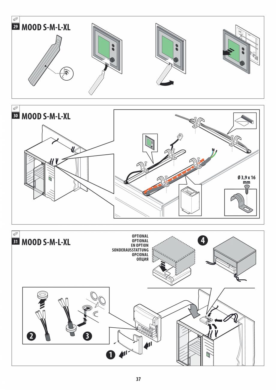 Pagina 37 - Manual de instalare pentru sauna JACUZZI MOOD Instructiuni montaj, utilizare Engleza,...