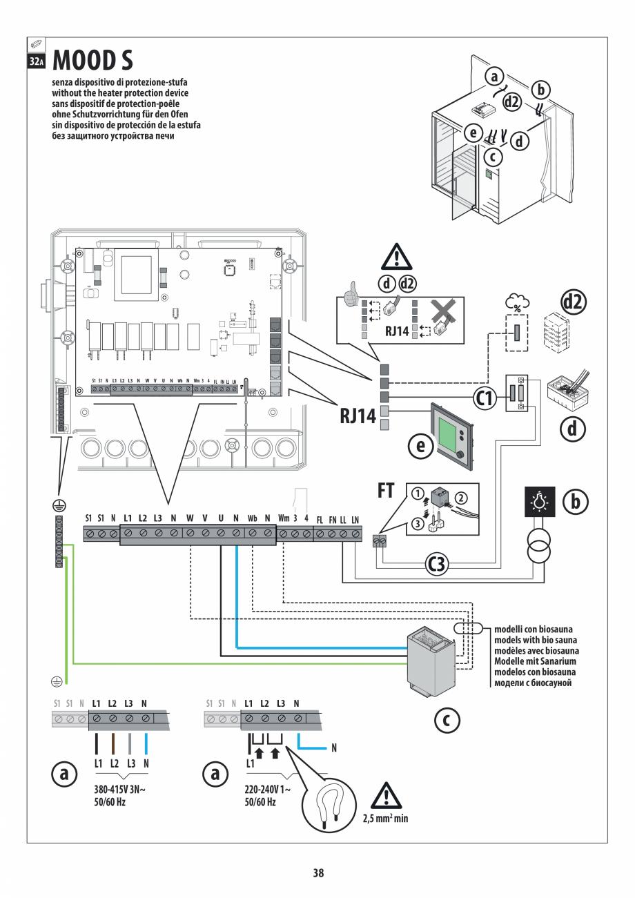 Pagina 38 - Manual de instalare pentru sauna JACUZZI MOOD Instructiuni montaj, utilizare Engleza,...