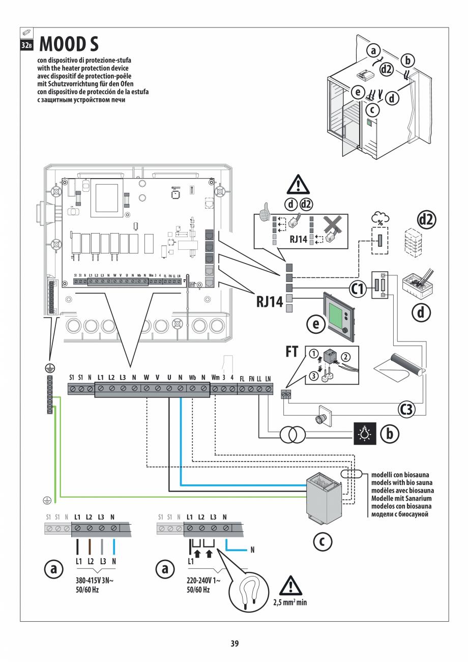 Pagina 39 - Manual de instalare pentru sauna JACUZZI MOOD Instructiuni montaj, utilizare Engleza,...