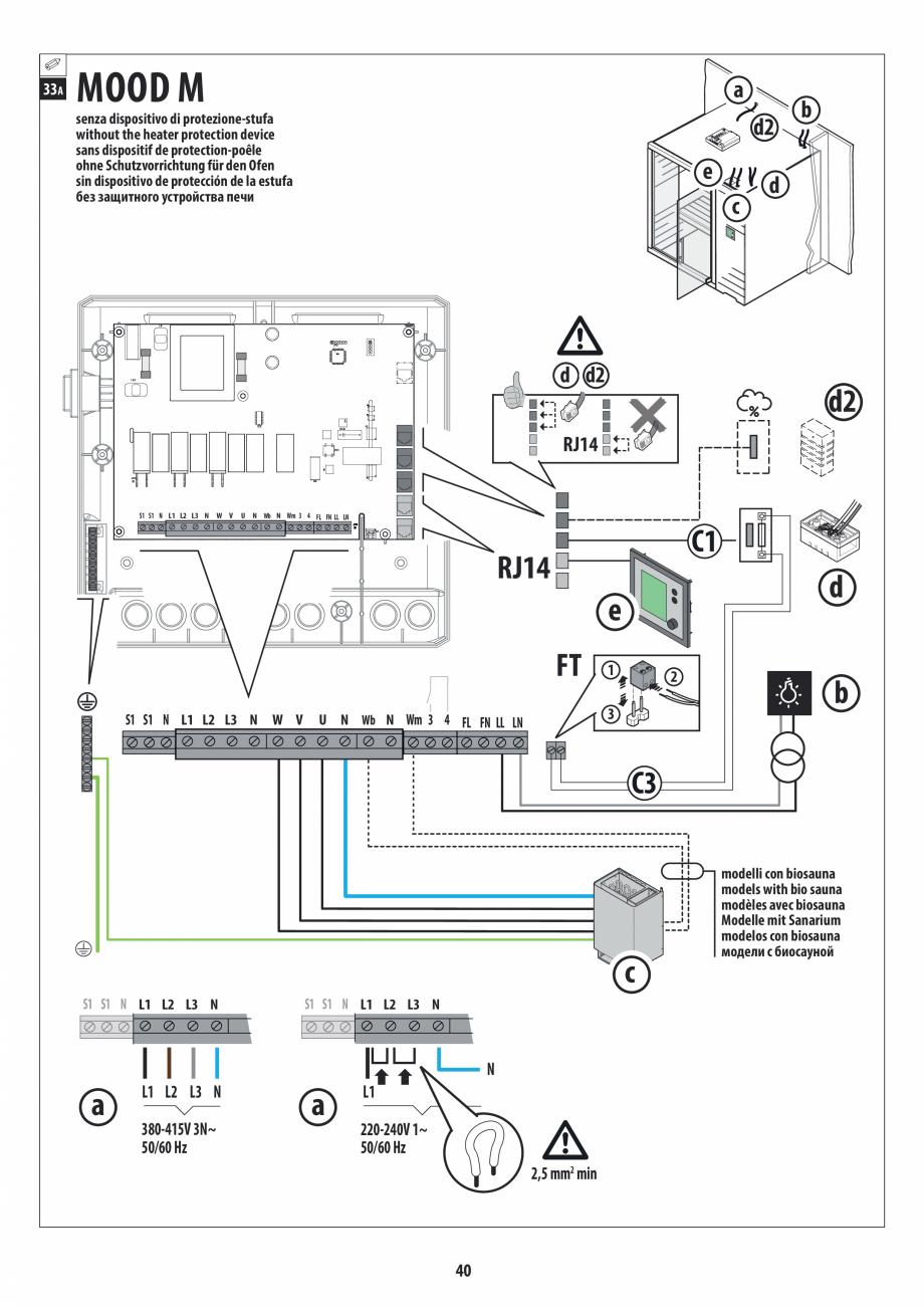 Pagina 40 - Manual de instalare pentru sauna JACUZZI MOOD Instructiuni montaj, utilizare Engleza,...