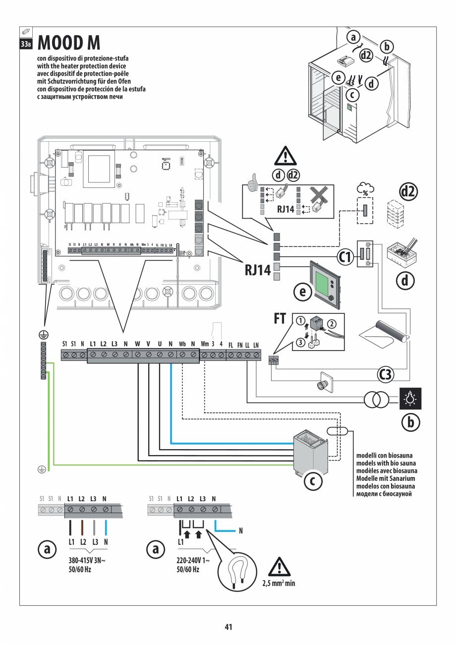 Pagina 41 - Manual de instalare pentru sauna JACUZZI MOOD Instructiuni montaj, utilizare Engleza,...