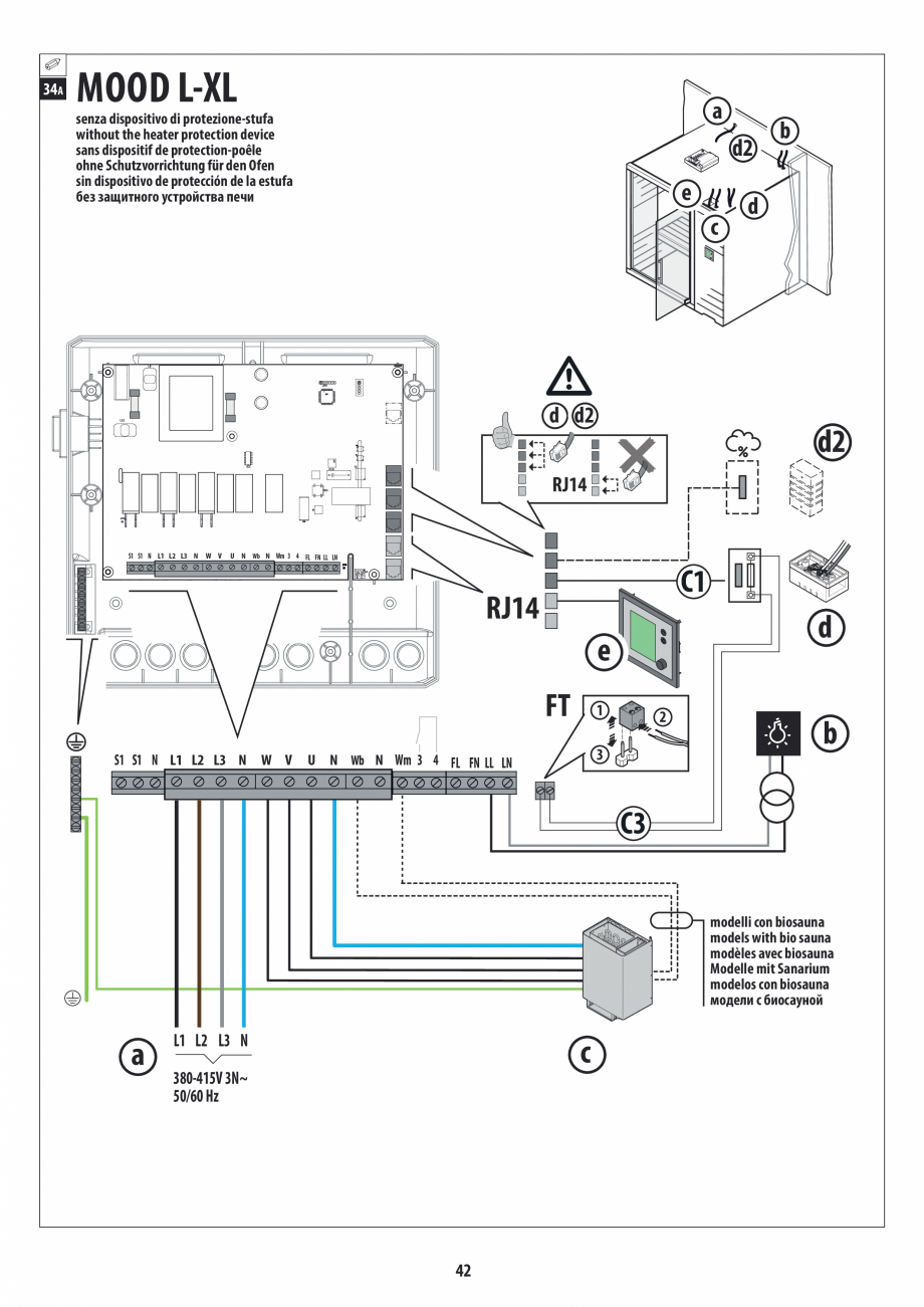 Pagina 42 - Manual de instalare pentru sauna JACUZZI MOOD Instructiuni montaj, utilizare Engleza,...