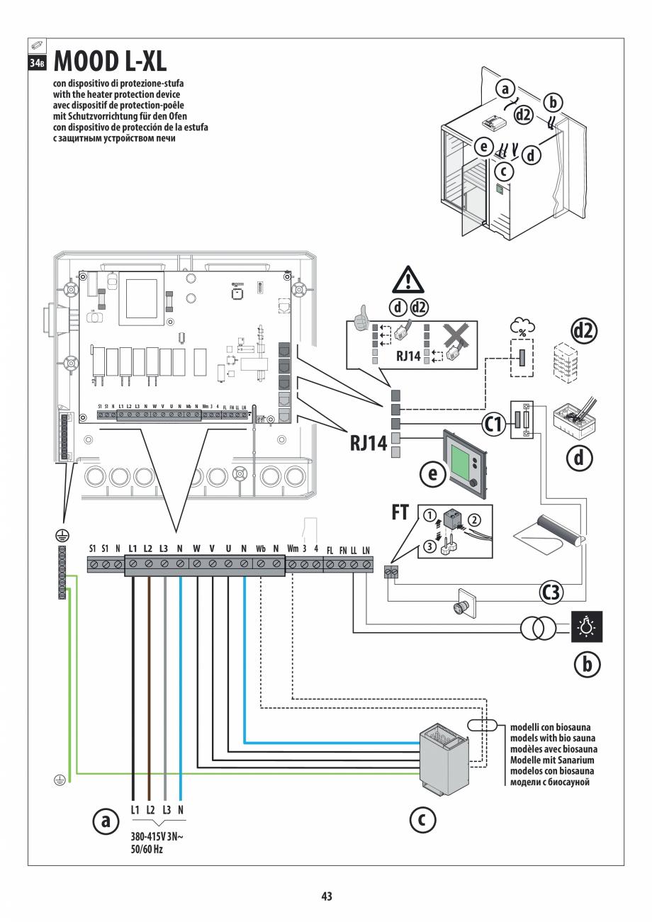 Pagina 43 - Manual de instalare pentru sauna JACUZZI MOOD Instructiuni montaj, utilizare Engleza,...
