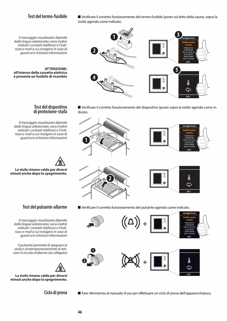 Pagina 46 - Manual de instalare pentru sauna JACUZZI MOOD Instructiuni montaj, utilizare Engleza,...