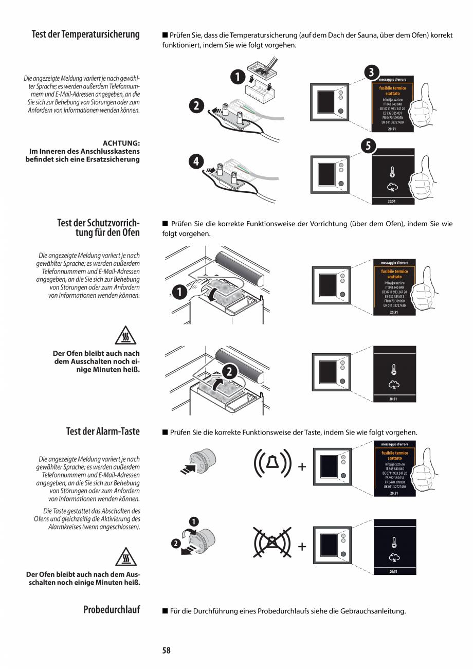 Pagina 58 - Manual de instalare pentru sauna JACUZZI MOOD Instructiuni montaj, utilizare Engleza,...