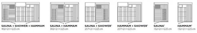Schiță dimensiuni Sauna - SASHA