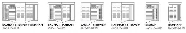 Schiță dimensiuni Sauna - SASHA 2.0