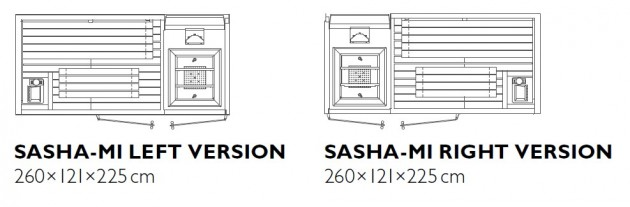 Schiță dimensiuni Sauna - SASHA MI