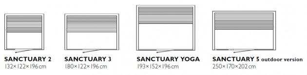 Schiță dimensiuni Sauna  cu infrarosu - SANCTUARY