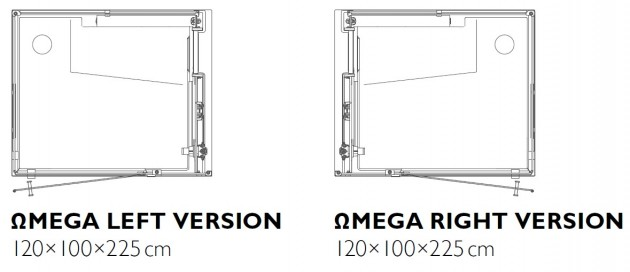 Schiță dimensiuni Sauna - ΩMEGA