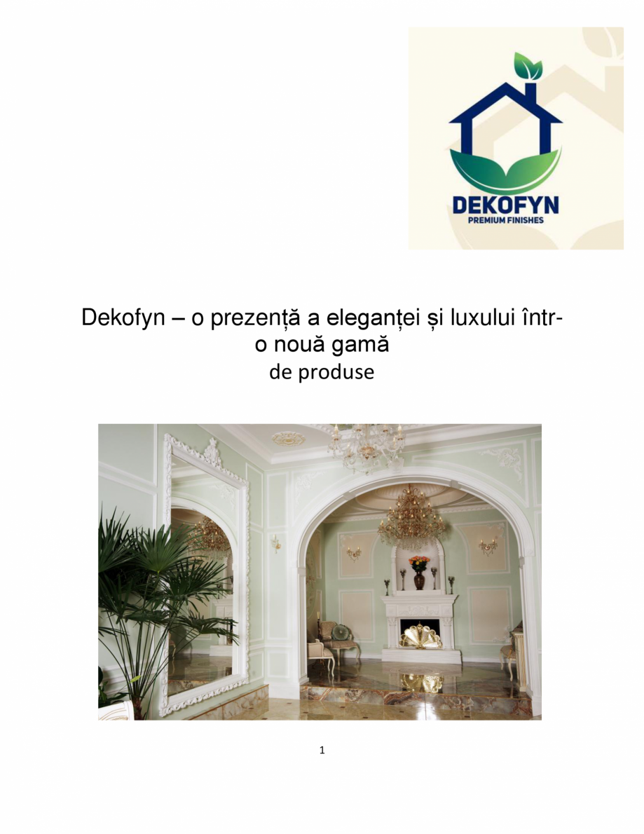 Pagina 1 - Proiecte realizate cu profile decorative din ipsos - Dekofyn DEKOFYN Catalog, brosura...