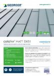 Tablă de oțel prevopsită cu protecție organică mata GEOROOF - COLOFER MATT DX51