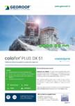 Tablă de oțel prevopsită cu protecție organică GEOROOF - COLOFER PLUS DX 51