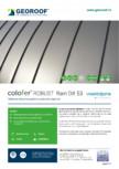 Tablă de oțel prevopsită cu protecție organică GEOROOF -  COLOFER ROBUST RAIN DX53