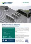 Tabla plana din zinc-titan pentru accesorii de latonerie GEOROOF - ZINTEK