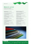 Specificatii materii prime Wetterbest - Componenta pe straturi a materialelor utilizate la fabricarea panourilor din tabla