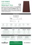 Panouri din tabla faltuita pentru invelitori plane Wetterbest - Click