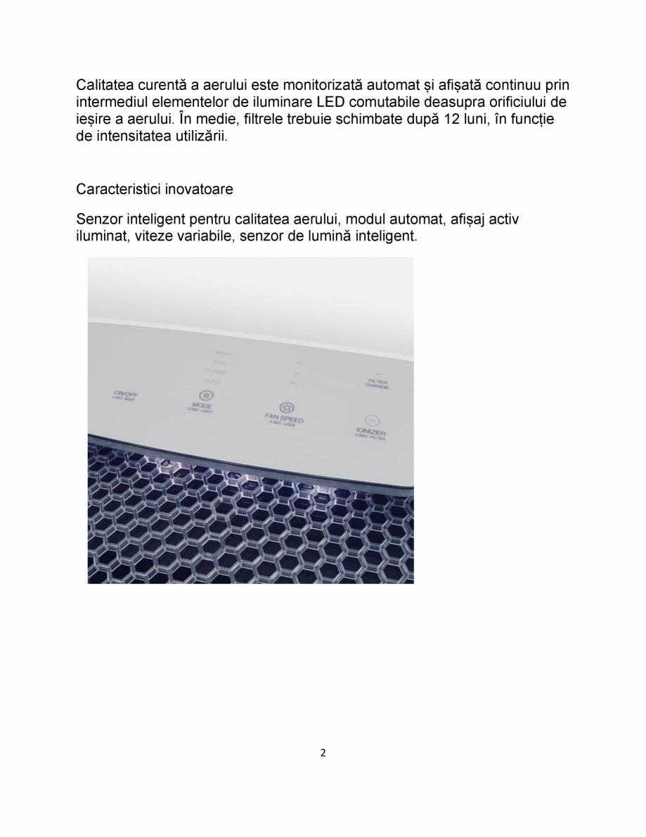 Pagina 2 - Purificator de aer cu sistem de filtrare in mai multe etape IDEAL AP35 Catalog, brosura...