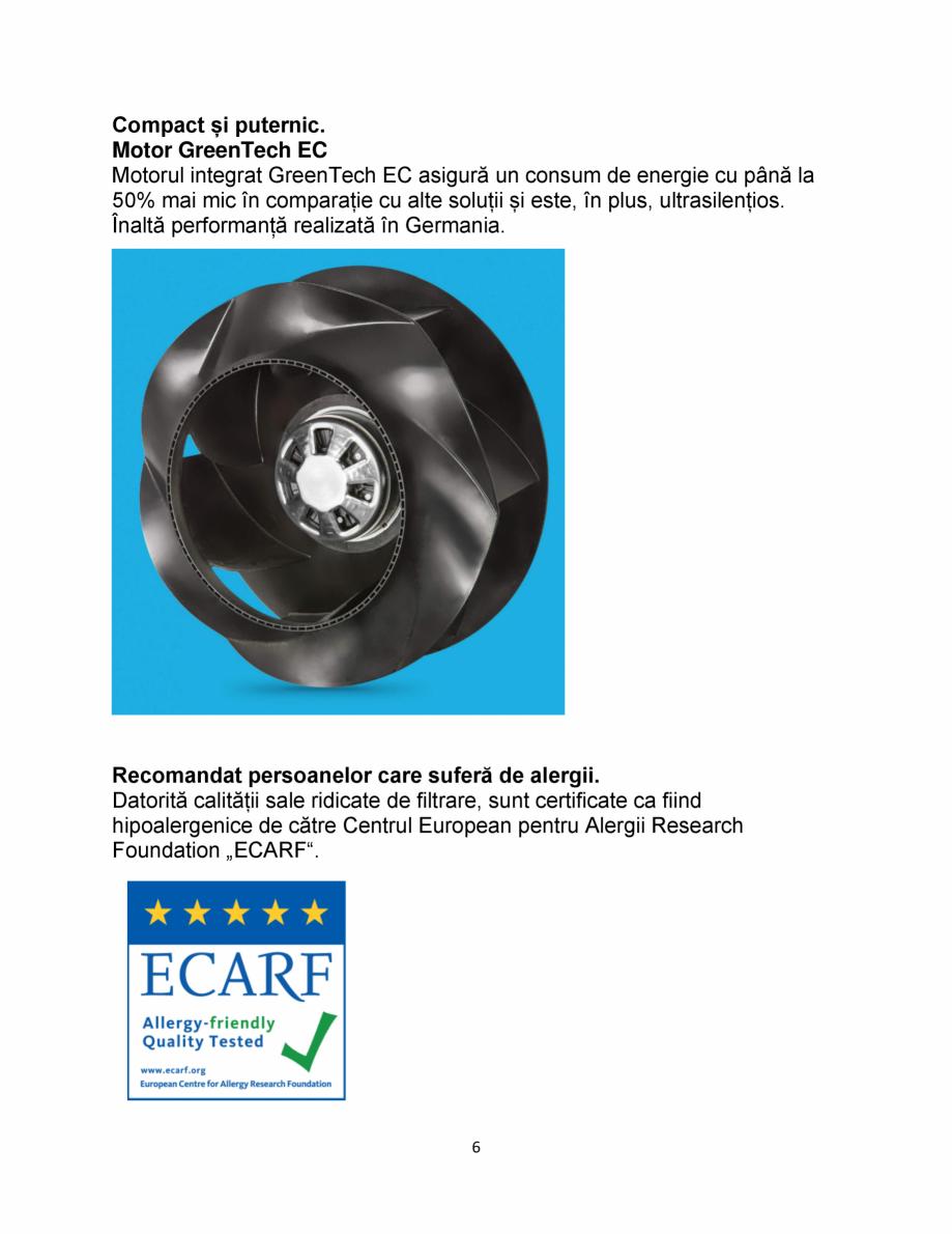 Pagina 6 - Purificator de aer IDEAL AP30 PRO Catalog, brosura Romana