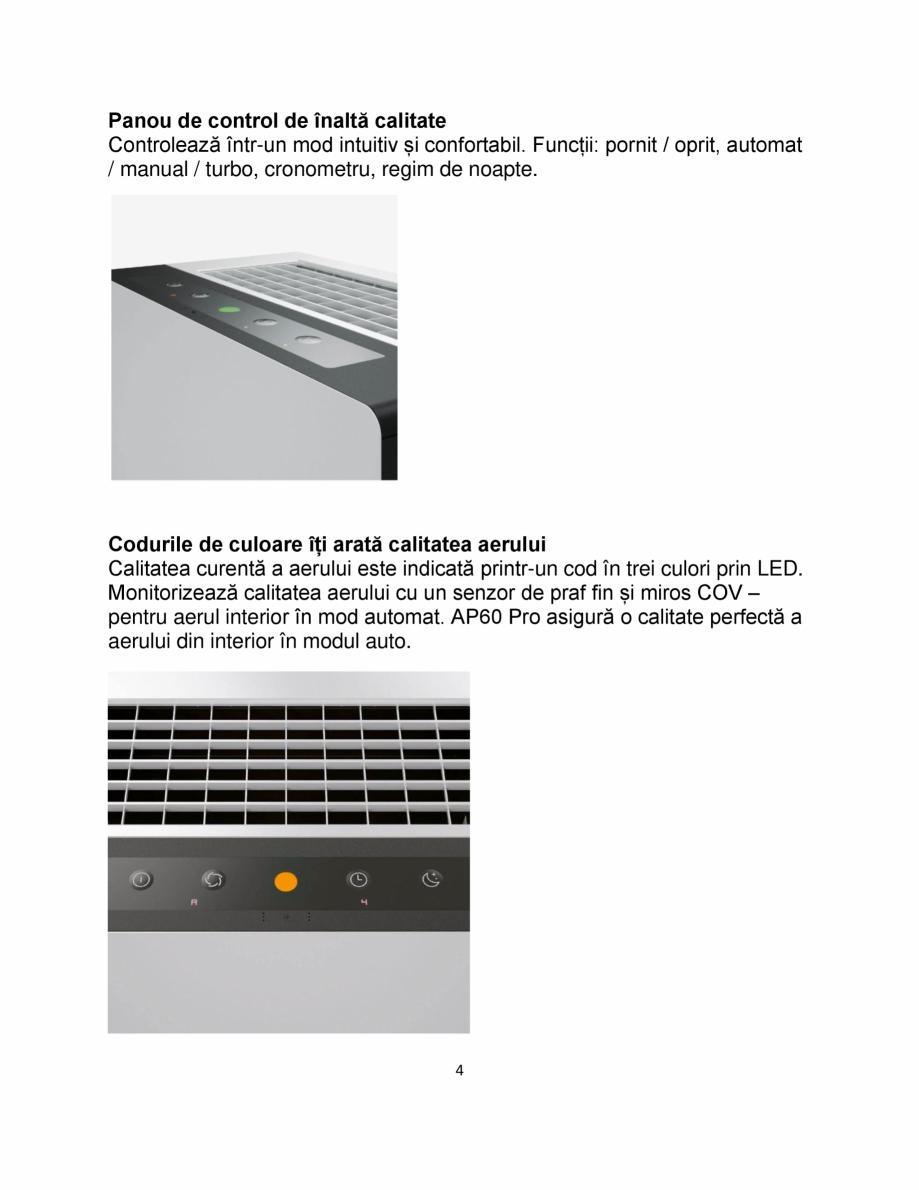 Pagina 4 - Purificator de aer IDEAL AP60 PRO Catalog, brosura Romana s COV – pentru aerul interior...