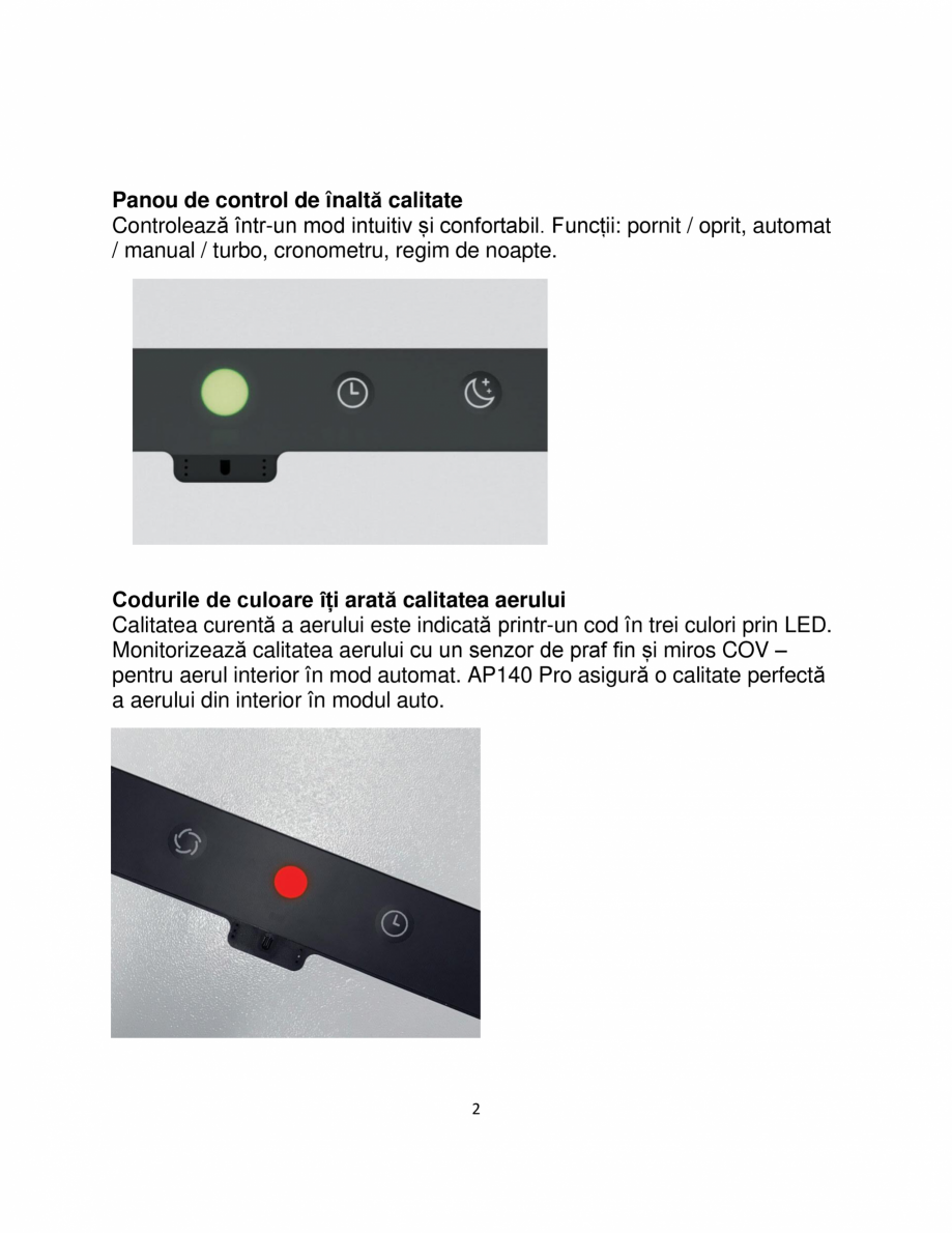 Pagina 2 - Purificator de aer  IDEAL AP140 PRO Catalog, brosura Romana  o calitate perfectă a...