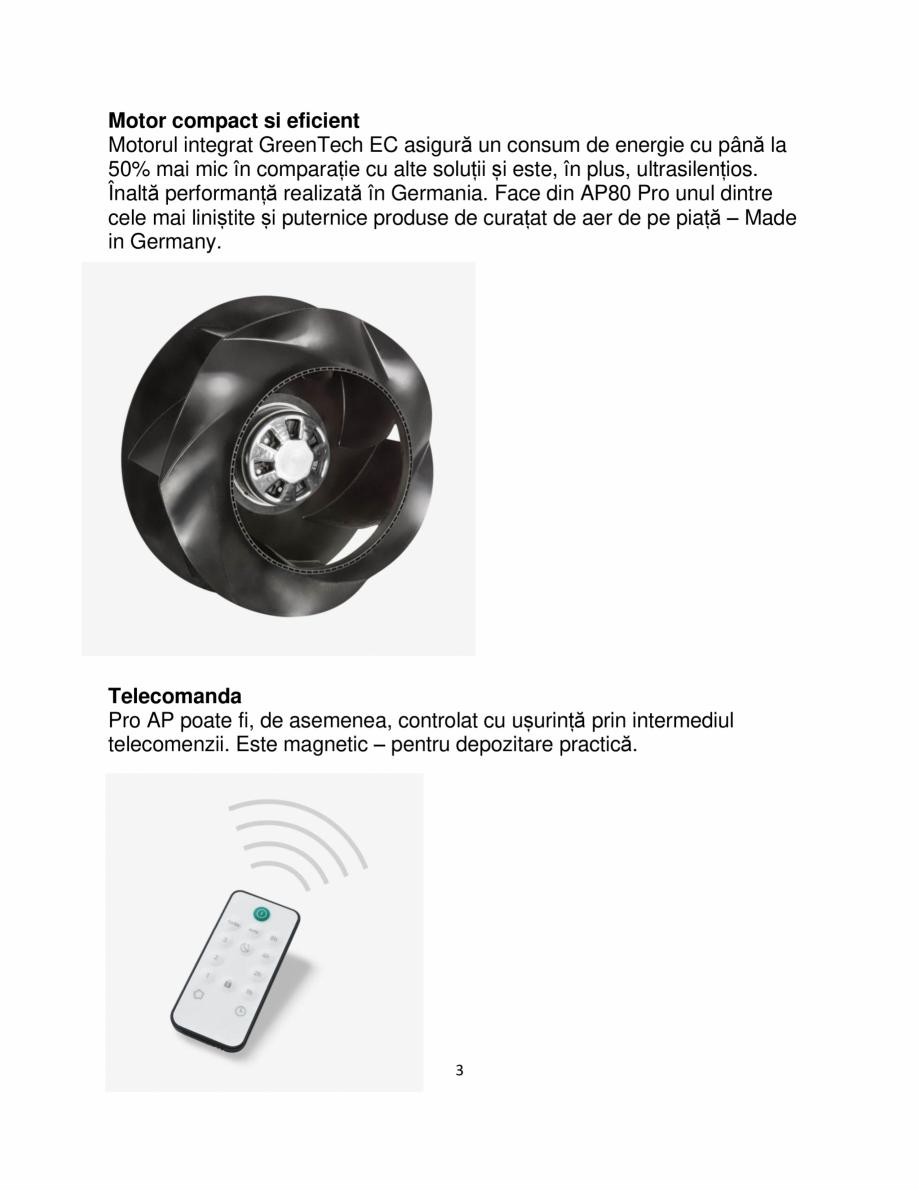 Pagina 3 - Purificator de aer  IDEAL AP140 PRO Catalog, brosura Romana le Play și Apple App Store. ...