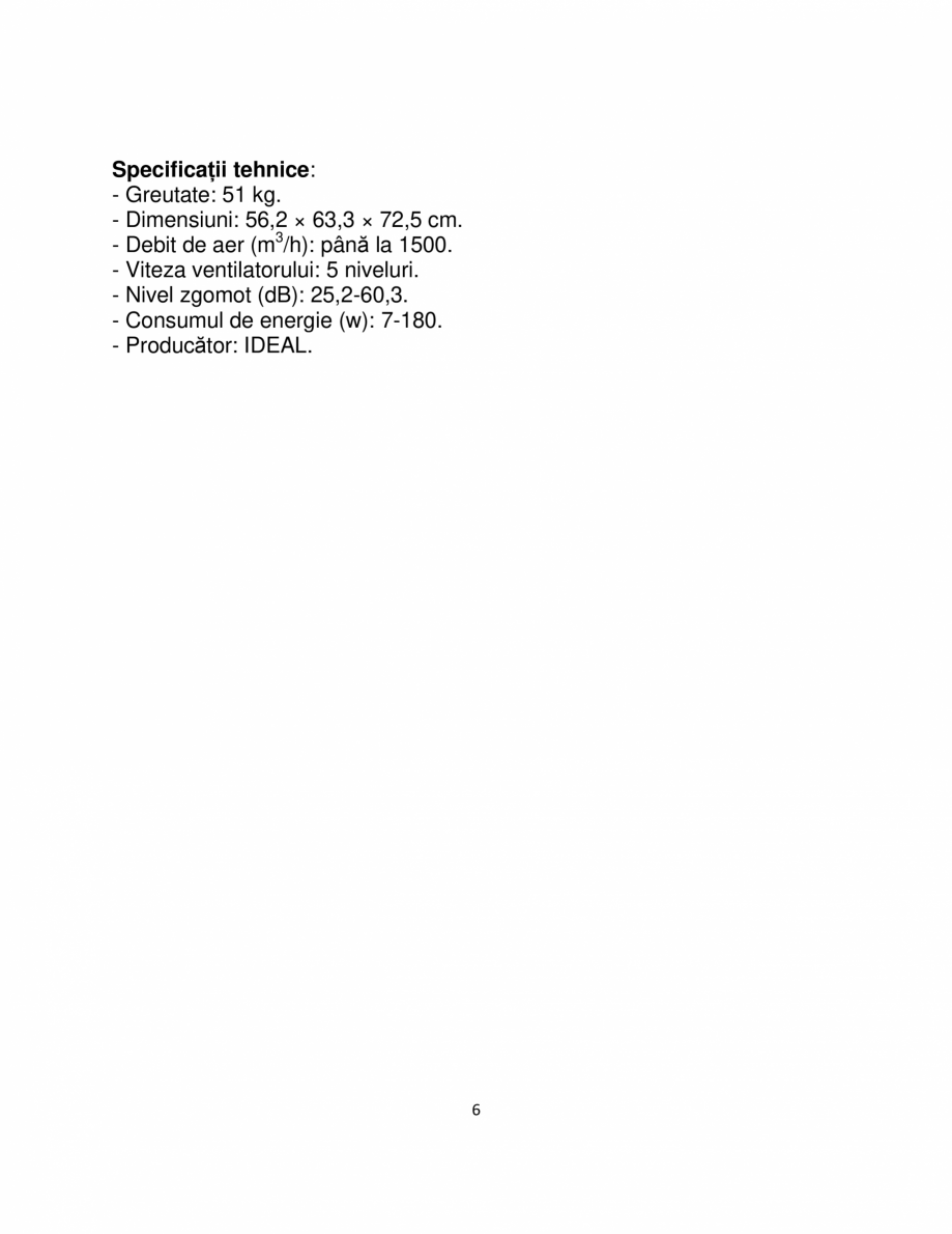 Pagina 6 - Purificator de aer  IDEAL AP140 PRO Catalog, brosura Romana