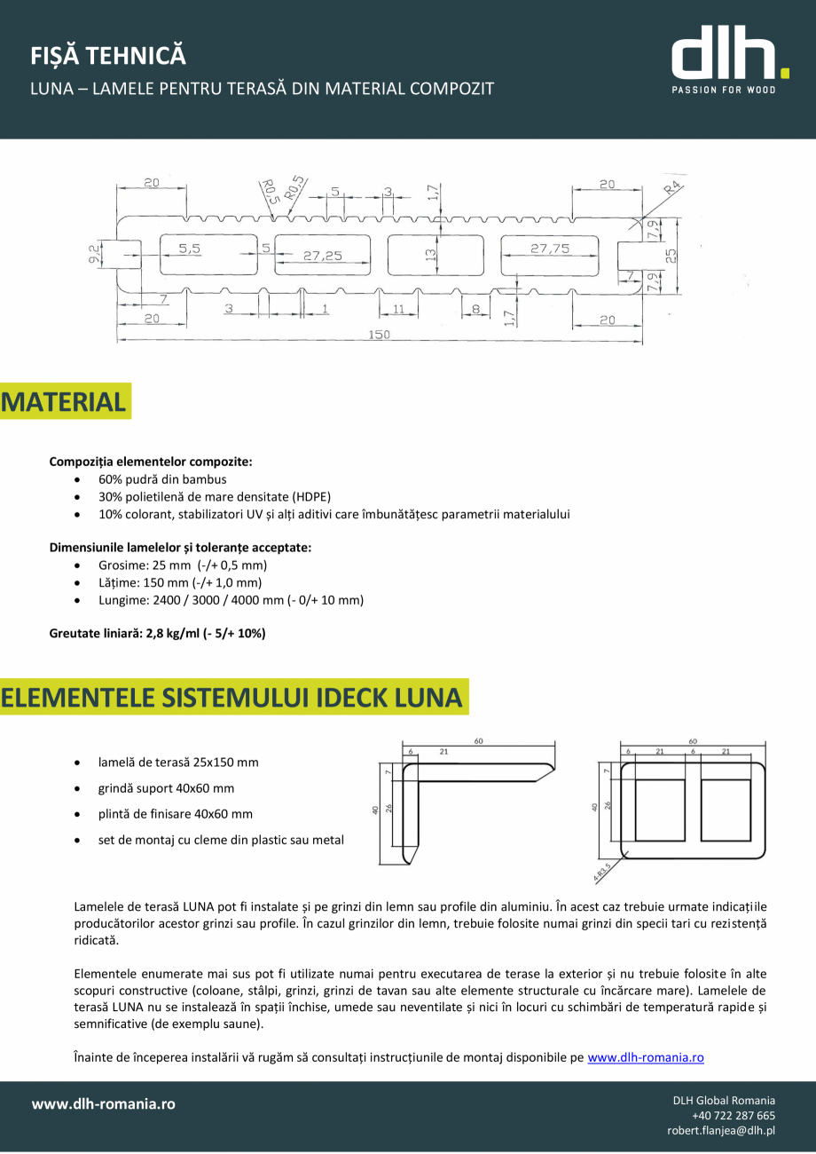 Pagina 1 - Lamele pentru terasa din material compozit deckexpert.ro Fisa tehnica Romana FIȘĂ...