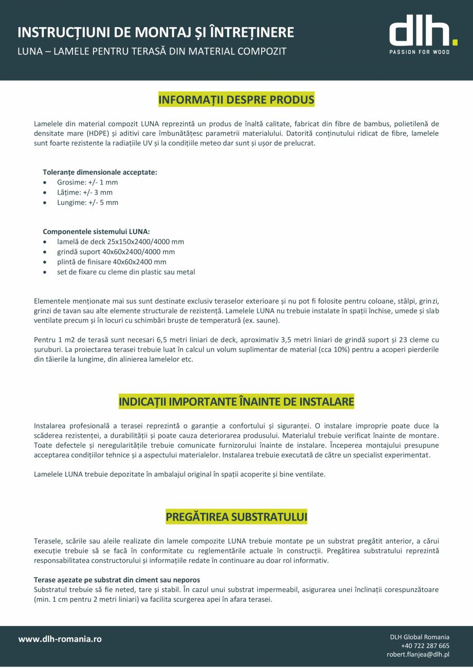 Pagina 1 - Lamele pentru terasa din material compozit deckexpert.ro Instructiuni montaj, utilizare...