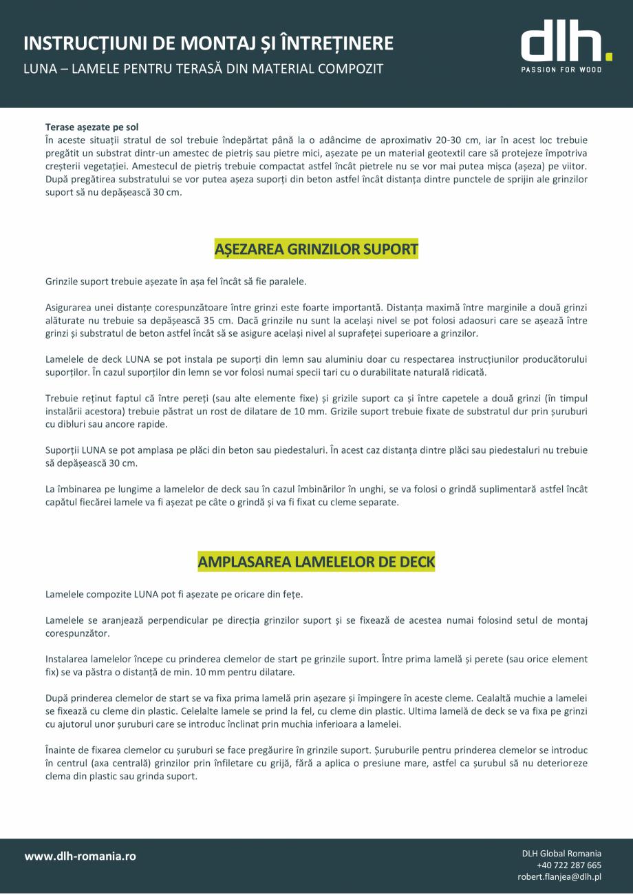 Pagina 2 - Lamele pentru terasa din material compozit deckexpert.ro Instructiuni montaj, utilizare...